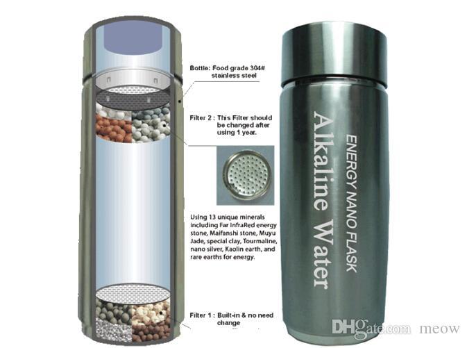 Портативный Щелочной Воды Чашки Энергии Нано Колба Микро Электролиза Алюминиевая Бутылка Слабой Щелочной Здоровой Воды Чайник