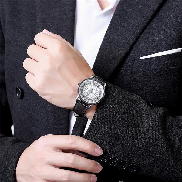 Man S Hand Bands: Boy Fashion Hand Watch With 4cm Dial Diameter And Black
