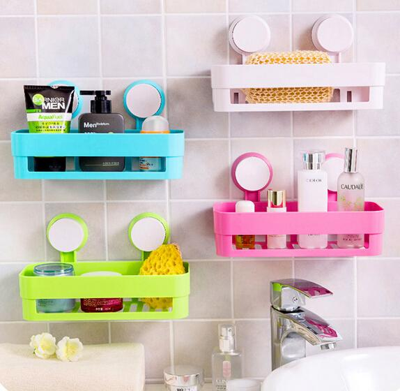 Beau Plastic Wall Mounted Type Powerful Suction Bathroom Shelf Solid Color  Single Tier Bathroom Corner Shelves Bathroom Shelves Corner Shelf Wall  Mounted Online ...