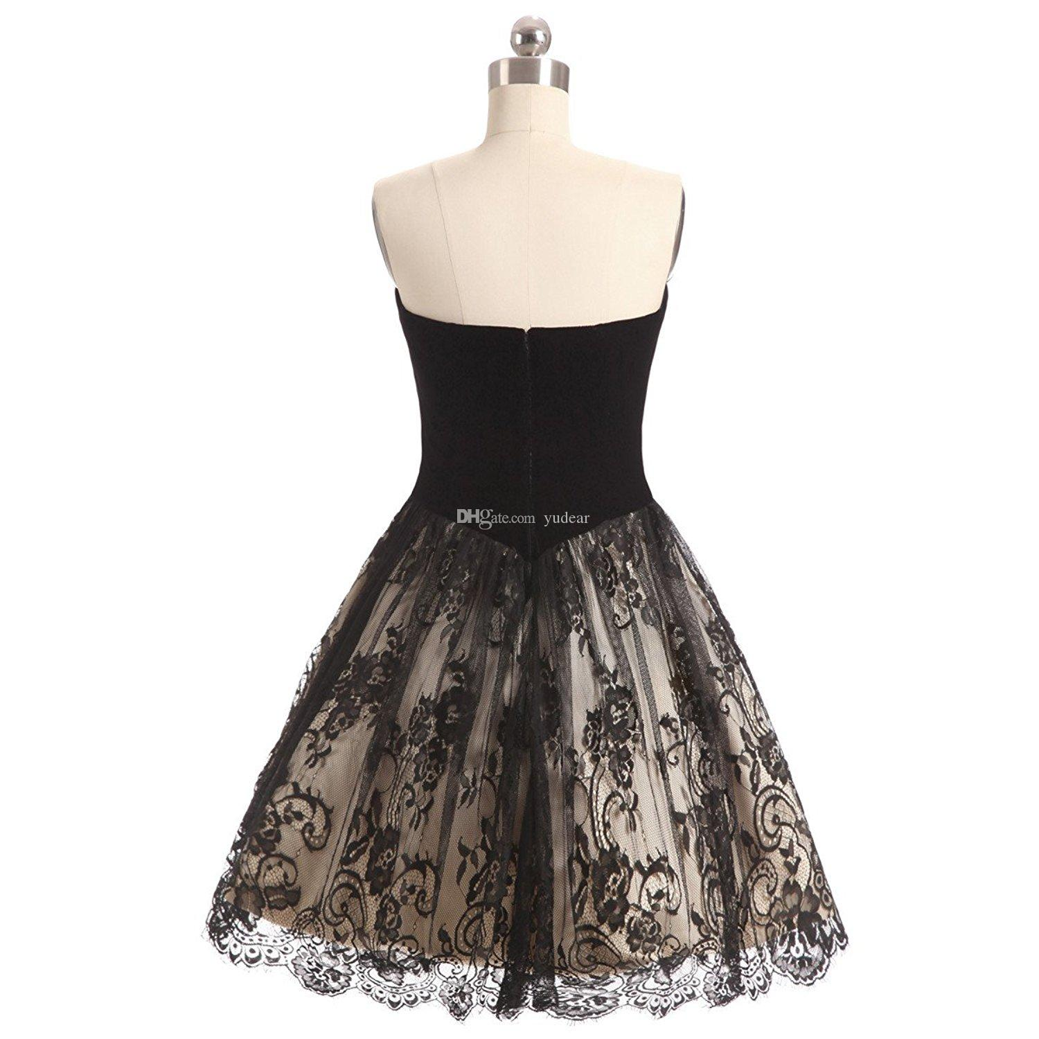 Charming Lace 2018 Sweetheart Women Homecoming Dresses Short Prom Party Gowns Cheap Tiered Skirt A Line Princess Prom Gown For Juniors Ball