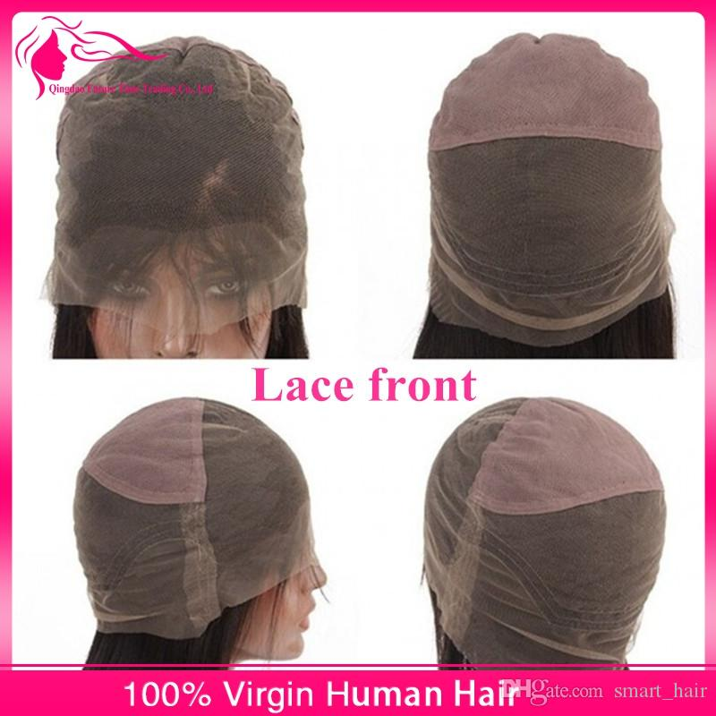 Mongolian Kinky Straight 8A Virgin Human Hair Glueless Lace Front Wig 100% Coarse Yaki Full Lace Wigs With Baby Hair