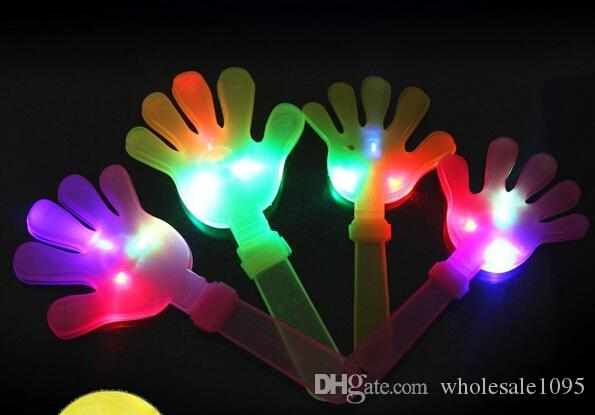 28cm DHL LED Flashing Hand Toy Led Light Palm Slap Night Party Glowing Clap Props Luminous Plam Noise Maker Concert Bar Supplies