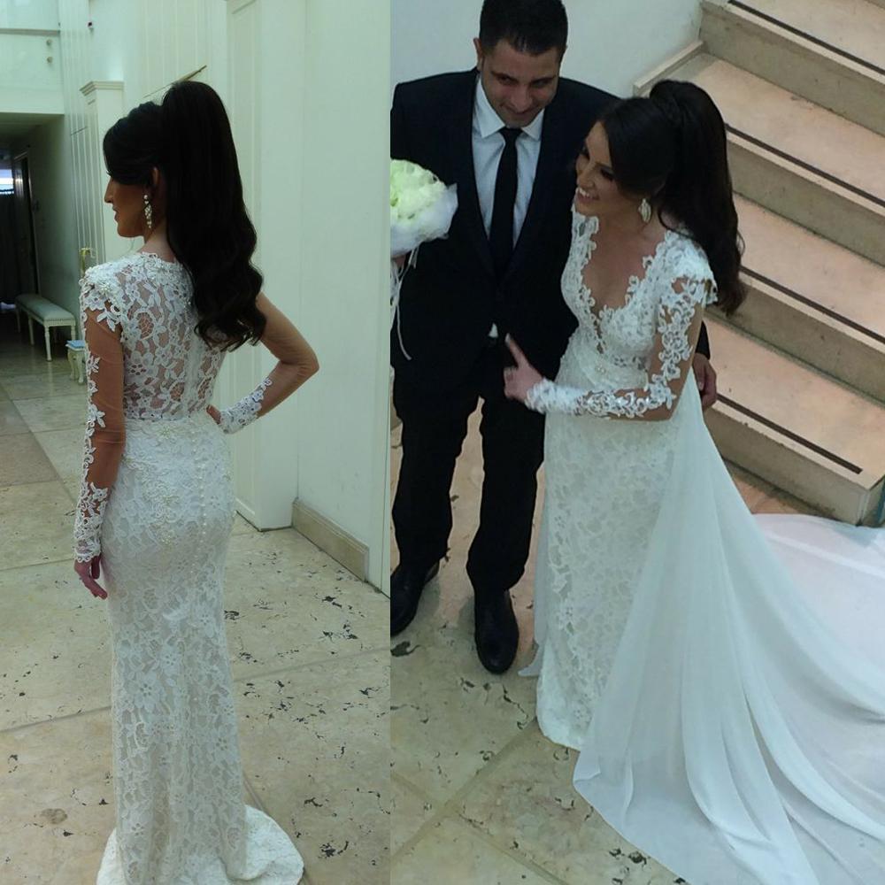 Chiffon Overskirt Wedding Dresses