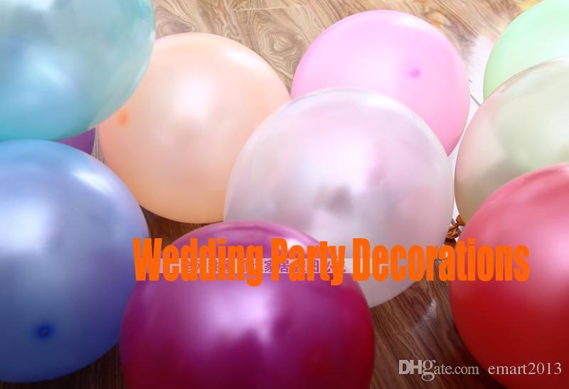 Hohe Qualität Freies Verschiffen / Latex Helium Aufblasbare Verdickung Perlen-Hochzeitsfeier und 1. Geburtstagsballon