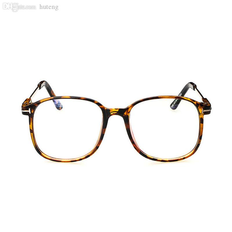 32ba2d40a557 2019 Wholesale D Women'S Optical Glasses Frame Eyeglasses Large Metal  Optical Frame Clear Glasses Prescription Eyewear Color High Quality From  Huteng, ...
