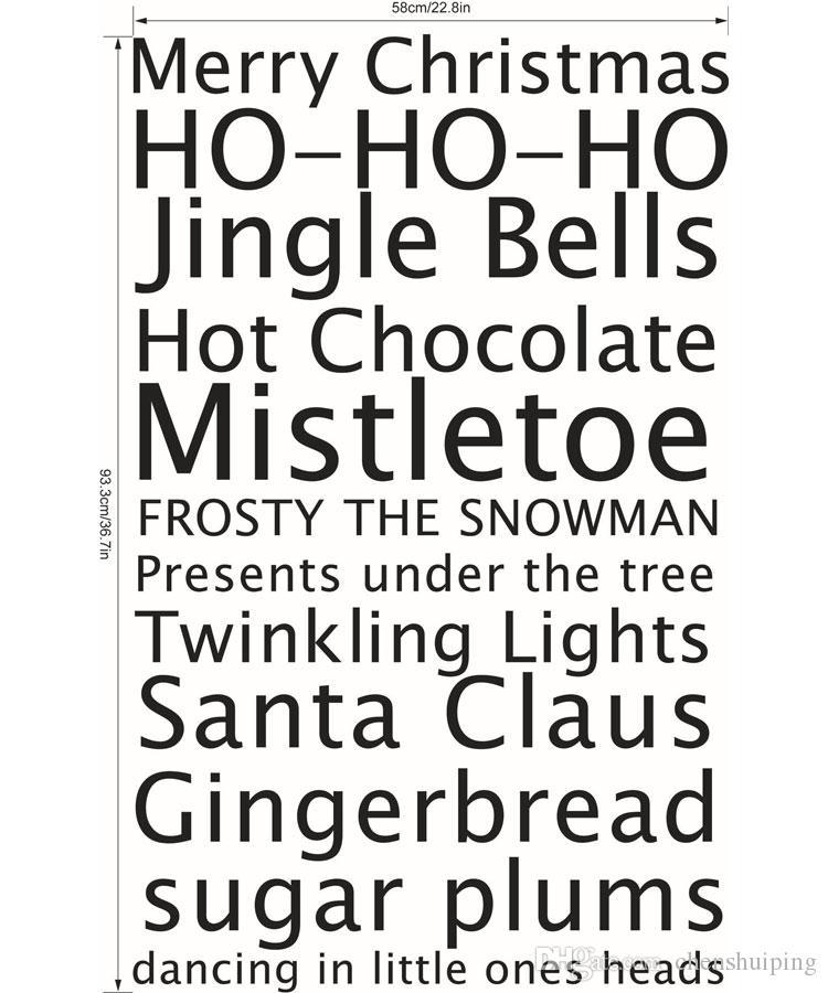 Joyeux Noël stickers muraux vinyle stickers muraux décorations de Noël festival décoration de la maison autocollant décalque décor chaud