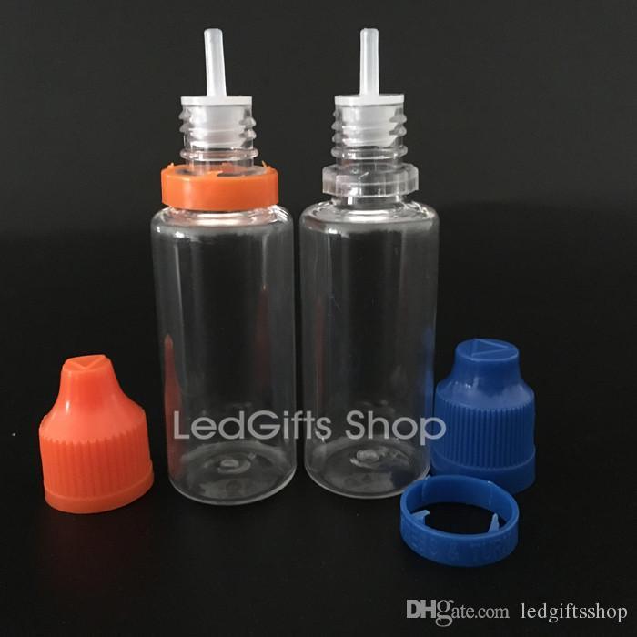Tamper Evident Caps ve Uzun İnce İpuçları 20ML Eliquid Şişeleri Plastik Boş şişeler ile Fabrika Fiyatı PET Damlalık Şişeler