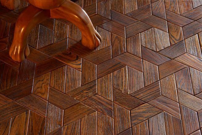 2018 Russia Oaksapele Wood Floor Wood Polygon Decorative Wood Floor