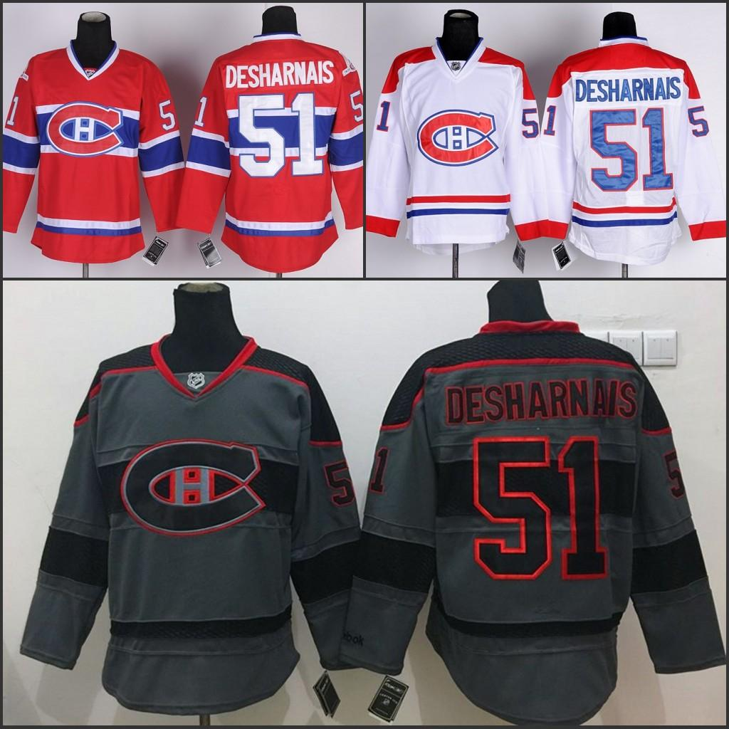 discount mens 51 david desharnais jersey montreal canadiens hockey jerseys cheap home red authentic david desharnais