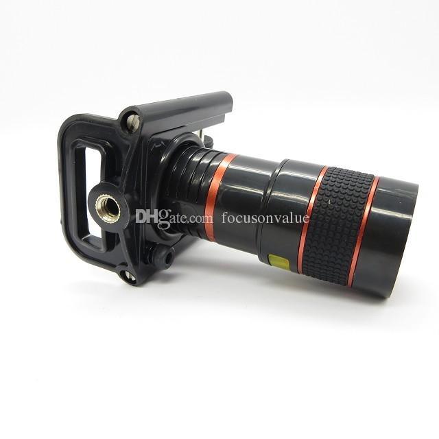 Универсальный 8x зум сотовый телефон телескоп объектив с держателем долго фокусное объектив камеры для Iphone Samsung HTC Sony Blackberry черный в розничной коробке