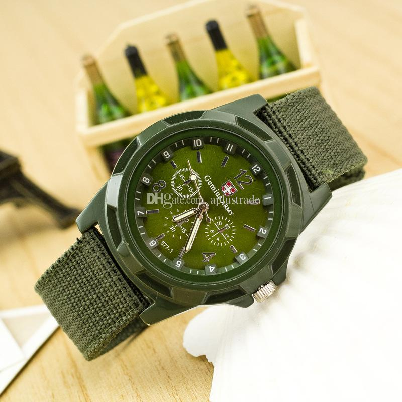 new fashion Christmas Gift,Blue Color Military Army Pilot Fabric Strap Sports Men's Swiss Military Watch