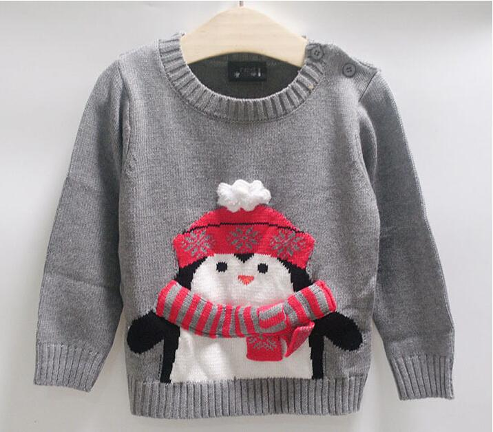 Children Sweaters Penguin Design Kids Clothing 2 7 Years Old Baby Winter  Europe Kid Clothing Button On Shoulder Toddler Sweater Knitting Pattern  Knitting