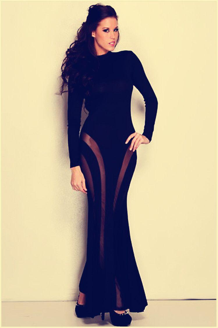 Skin tight long dresses