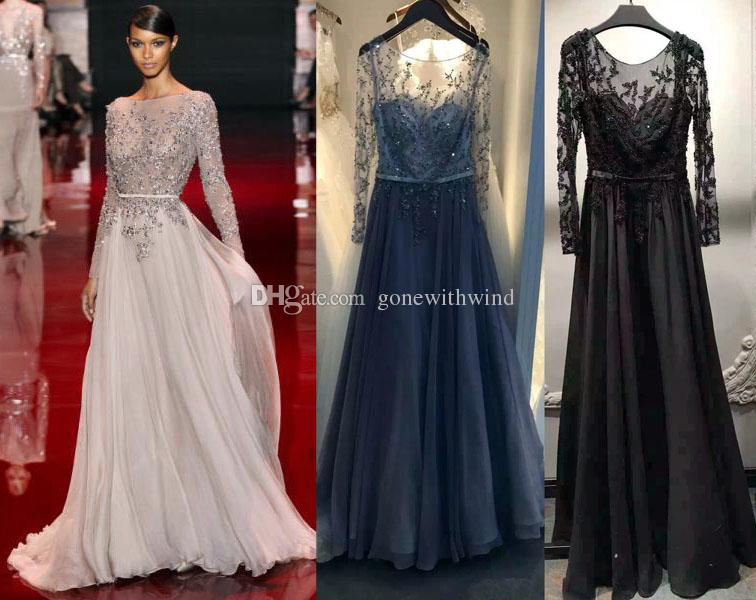 Mid long evening dresses