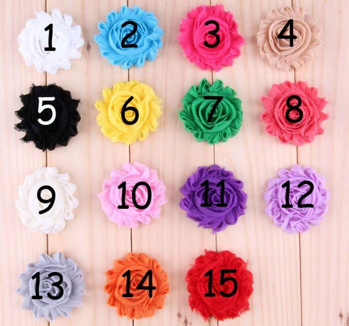 15color Shabby Chiffon Flowers With Alligator Clips Baby Boutique Hairpins Girl Barrettes Christmas Hair Accessories fj03