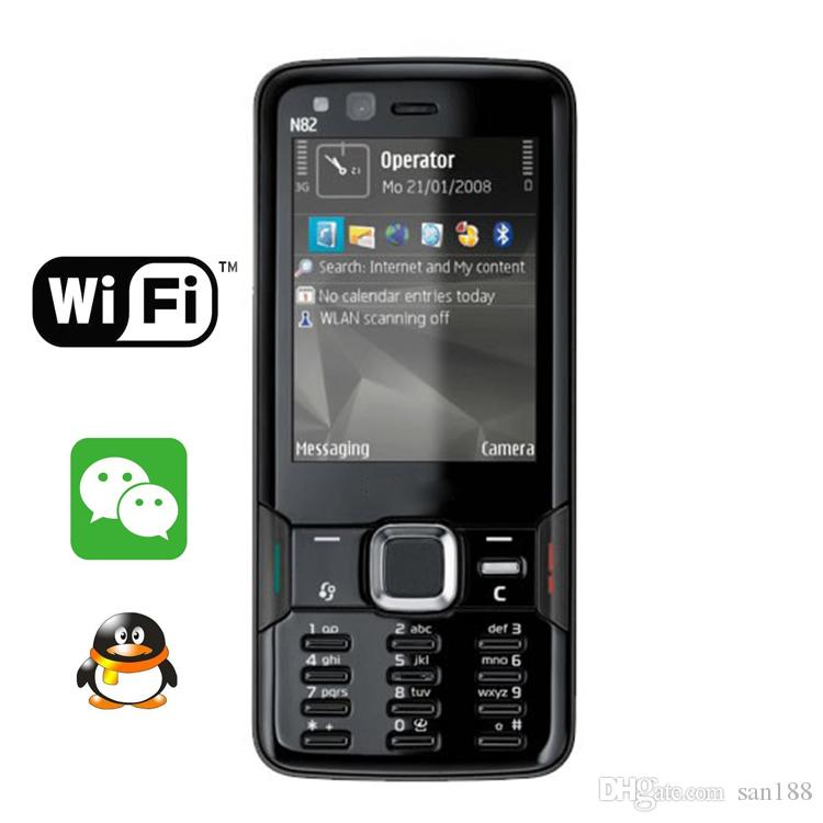 cheap 5MP bar unlocked phone Camera sim card 2.4 inch N82 smart phone cell phone with WIFI GPS Bluetooth.with box