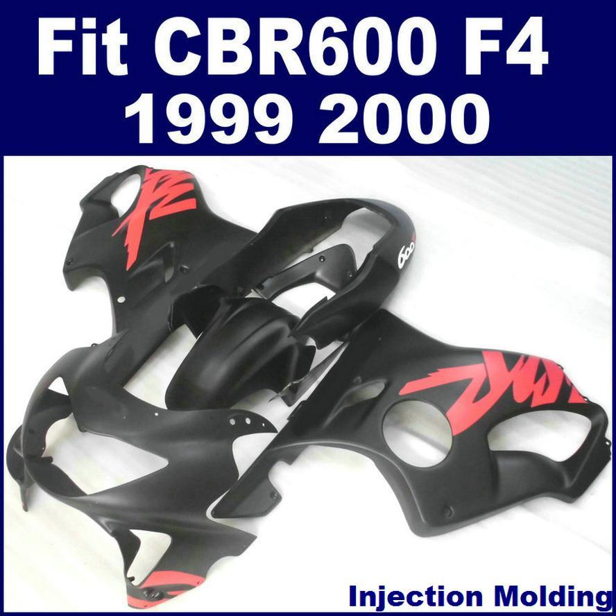 100% Injection molding parts for HONDA CBR 600 F4 1999 2000 full fairing black 99 00 CBR600 F4 motobike fairing GHJI