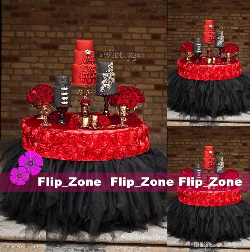 Custom Made 3d Rose Flowers Table Cloth For Wedding Party