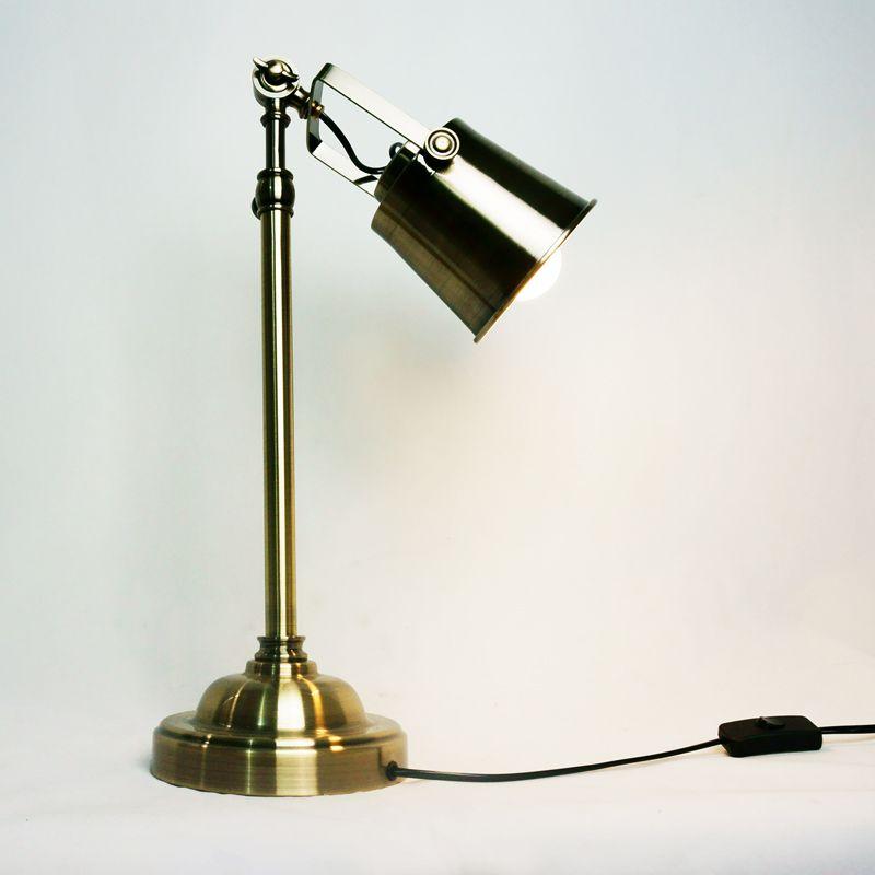 2018 Flexible Bronze Vintage Library Table Lamp Loft Bedside Desk Light  Home Shade Lighting Office Reading Table Lights From Lightingword, $178.9 |  Dhgate.