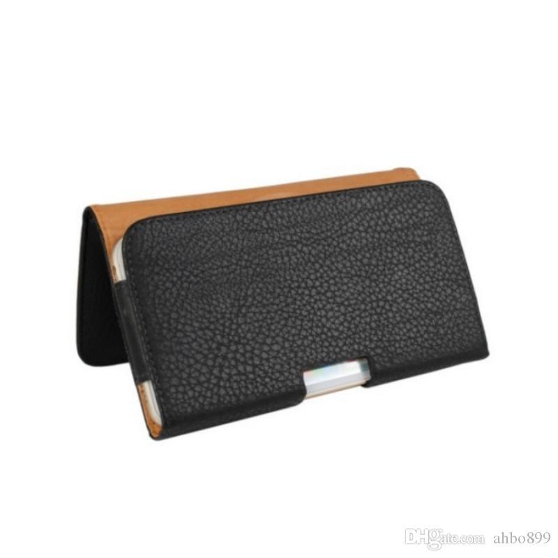 Caso della copertura della cassa della clip della cinghia di cuoio dell'unità di elaborazione della fondina più nuova Alcatel One Touch Idol X 6040 6040A 6040D Borsa telefono