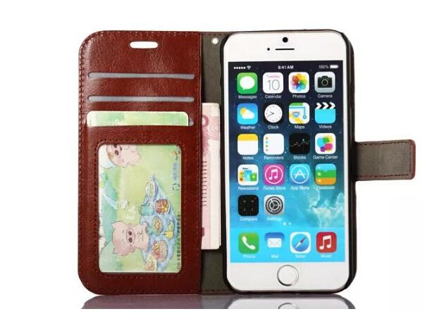 Wallet PU Leather Case Cover Pouch with Card Slot Photo Frame for iPhone 6 7 6 PLUS 7Plus Galaxy S6 S7 EDGE S8 S8 plus case cover