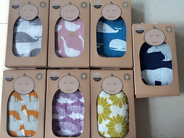 Baby Organic Cotton 100 Muslin Blankets Multifunctional