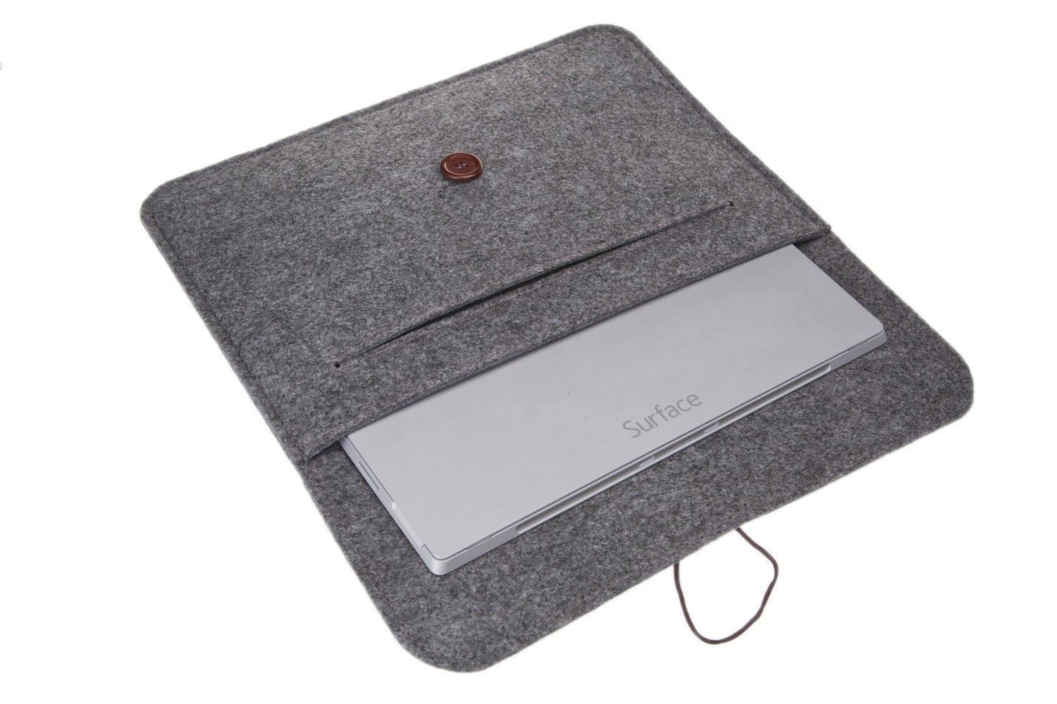 fashion wool felt sleeve carrying case pouch bag for