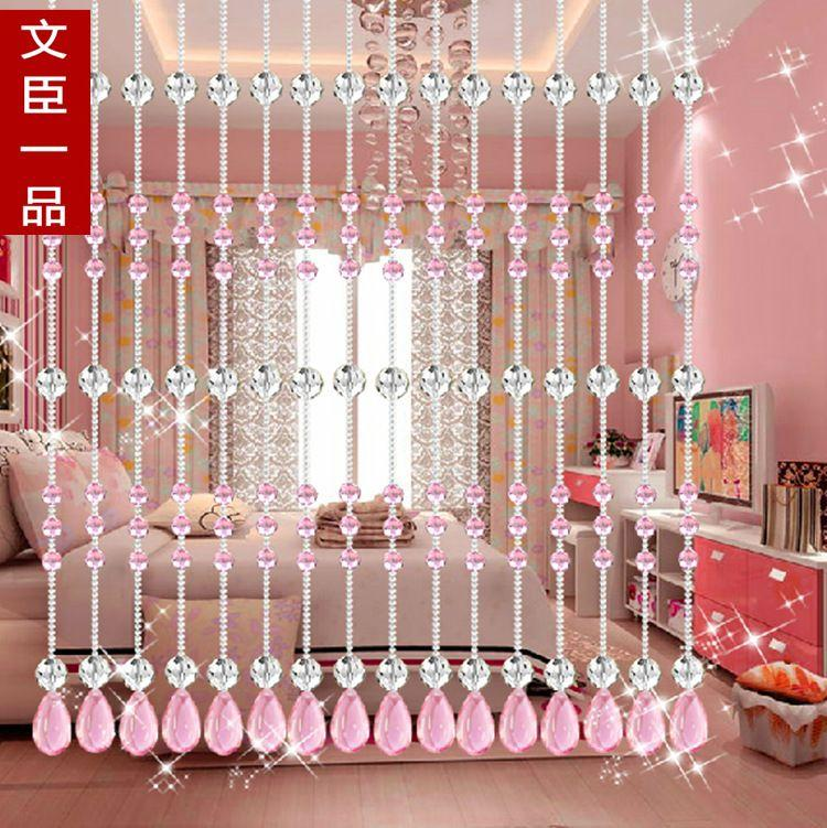 2017 Crystal Bead Curtain Partition Finished Bedroom Curtains Half Hanging Feng Shui Living Room Decoration New Gold Cham From
