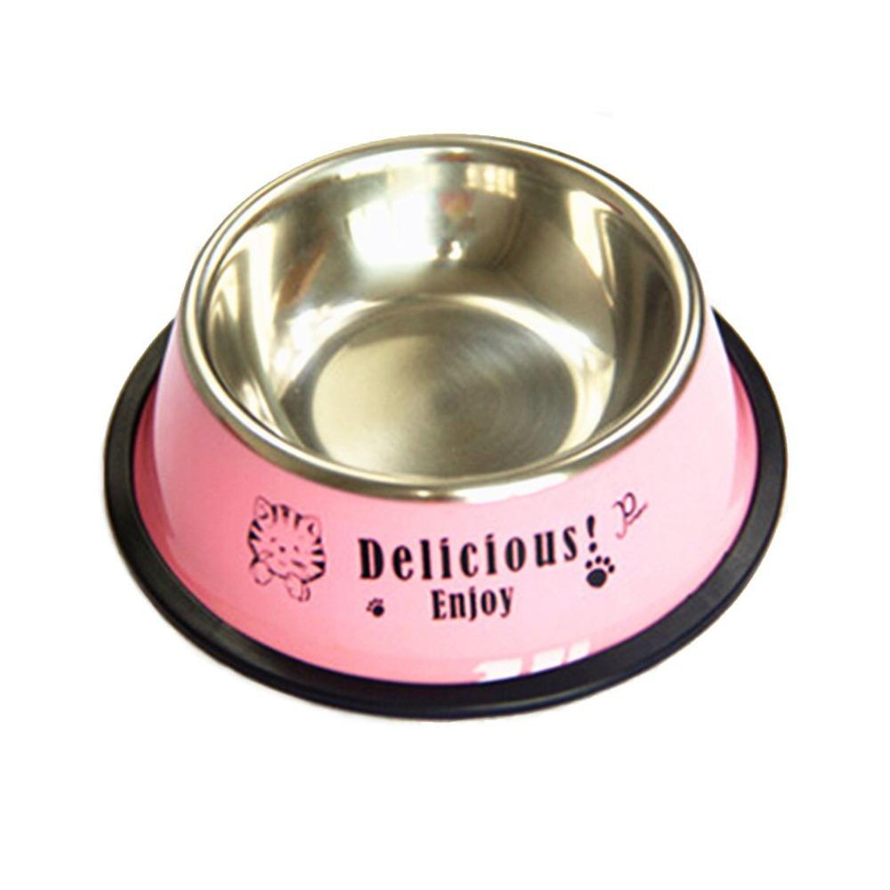 2019 Stainless Steel Non Skid Bowl No Tip Pet Food Water Bowl Cute