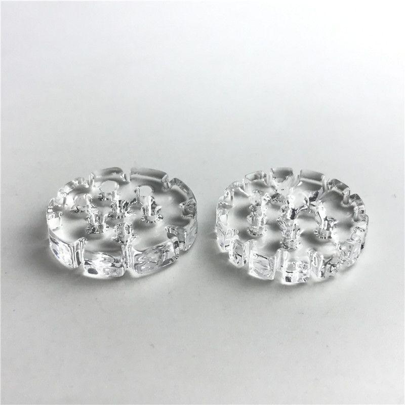 4 millimetri di spessore 20mm quarzo piatto banger inserto chiodo con fiocchi di neve 7 fori di olio di spessore Pyrex Quartz Banger Phat Thermal Skillet Nails