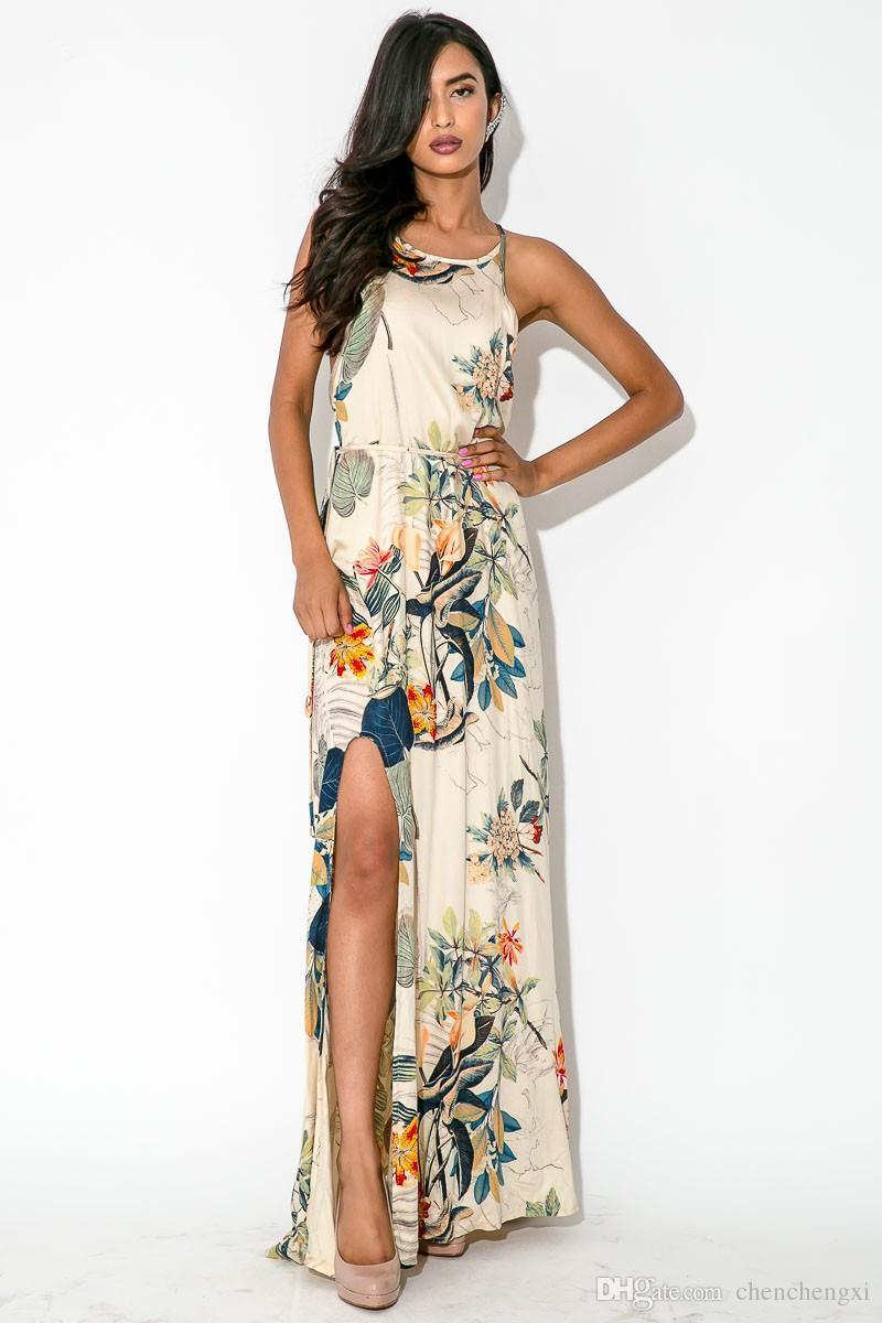 Sexy Deep O Neck Maxi Dresses On Beach 2016 Summer Plus Size Ice ...
