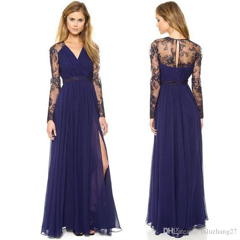 Prom Dresses Casual Dress With Summer Chiffon Fashion Elegant Long ...
