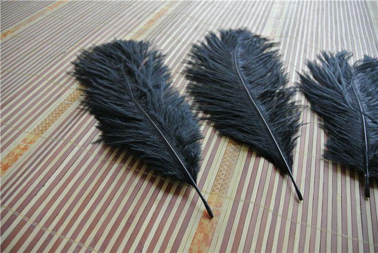 Atacado por 12-14 polegada OSTRICH PENAS preto Plumas para peças centrais do casamento decoração do casamento fontes do partido decoração do partido