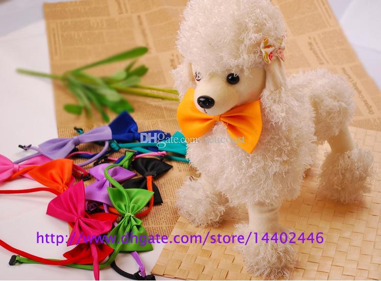 DHL Spedizione gratuita! cane collo cravatta cane farfallino cravatta gatto cravatta pet grooming rifornimenti pet copricapo fiore