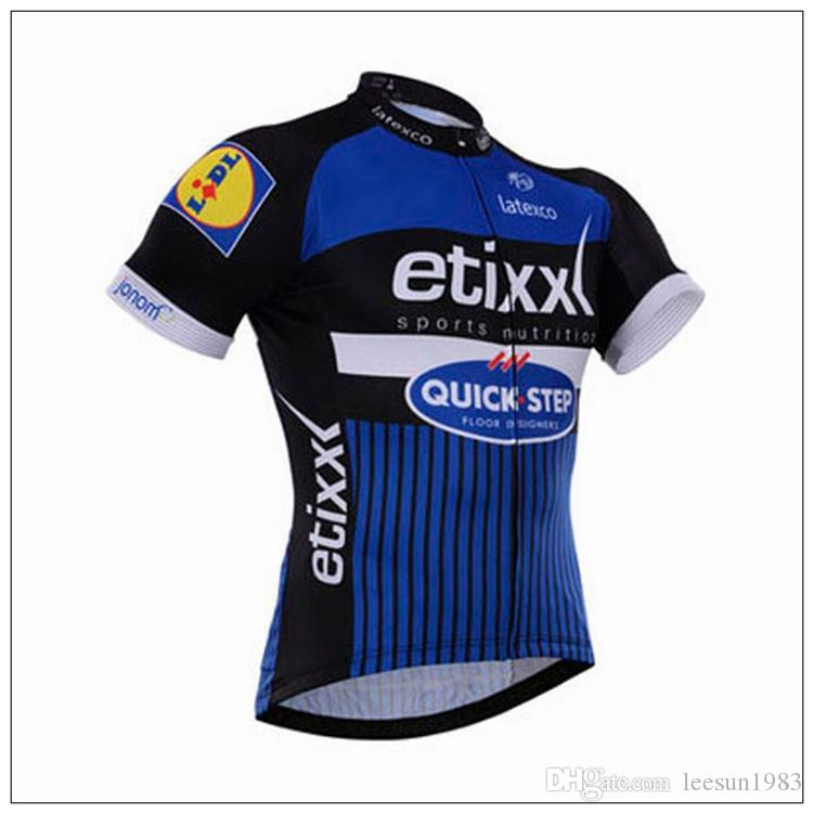 2016 ETIXX QUICK STEP PRO TEAM BLUE Q2 SHORT SLEEVE CYCLING JERSEY SUMMER CYCLING WEAR ROPA CICLISMO+ BIB SHORTS 3D GEL PAD SET SIZE:XS-4XL