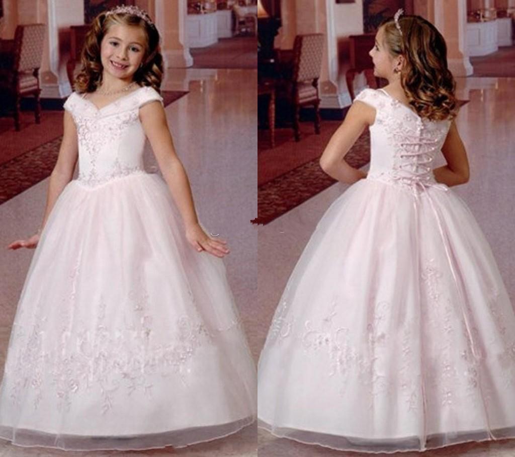 Первое причастие платья для девочек Белый первый цветок девушки платья для свадьбы линия Святое Причастие платье 2015 Vestidos De Primera Comunion