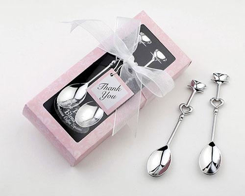 Dhl-freies Verschiffen-doppelte Herz-Kaffeelöffel, die Bevorzugungen Geburtstags-Geschenke der Vatertag und Geschenk der Mutter Tagesgeschenke