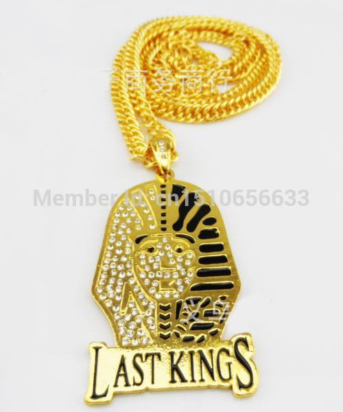 2017 New 1k8 Gold Plated Drill Jesus Head Rapper Pendant ...
