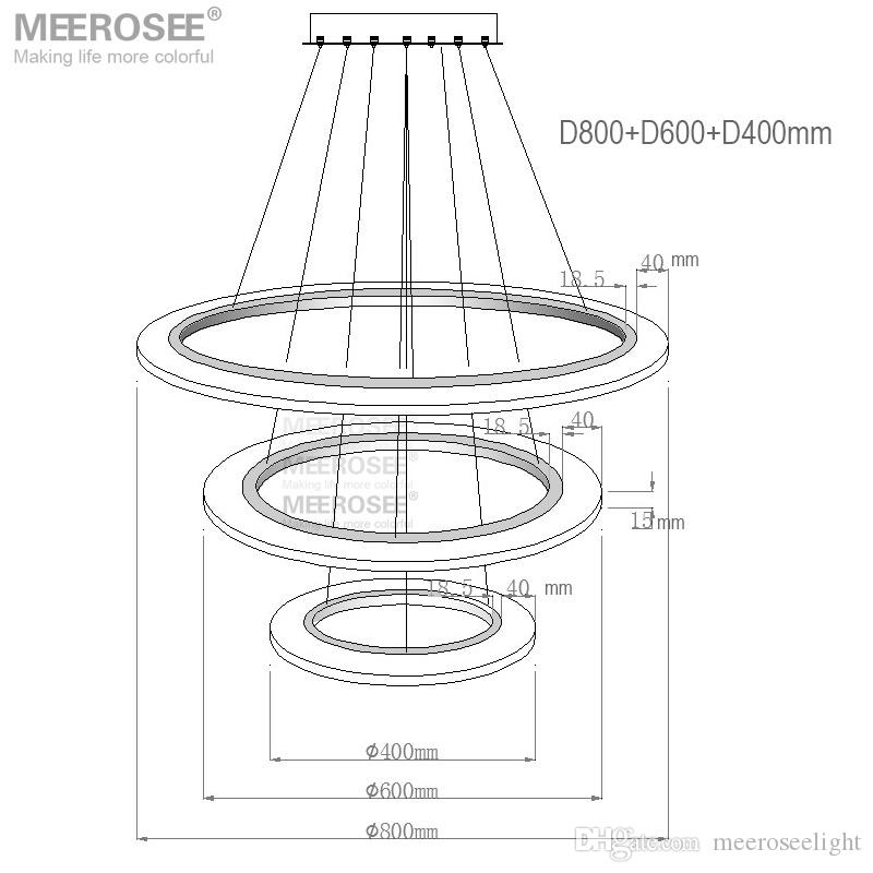 3 Rings Circles Modern LED Chandelier Pendant Lights Lighting for Dining Room White Acrylic LED Pendant Lamp Contemporary