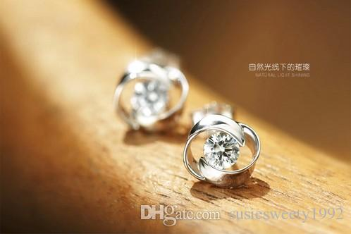 15 Fashion Earring Stud Ear Nail Steel Simple Silver Plated Design Crystal Earrings Accessories Set for Women Girl Pierced Ears New Jewelry