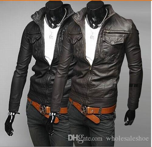 Fashion Designer Jackets Men Leather Jackets Mens Motorcycle Coats ...