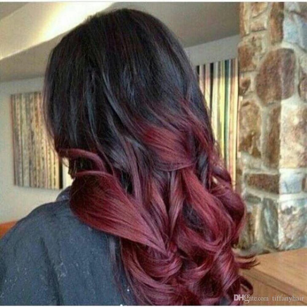 150density полный парик шнурка бразильских Remy волос 1BT99j волна Ombre цвет свободная часть кружева перед парик человеческих волос предварительно перебирают натуральных волос Qtfn