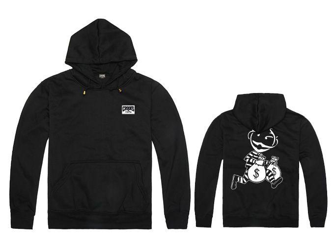 Crooks and Castles hoodie Hoodies Sweatshirt Casual Sport Male Hooded Jacket Long Sleeve Slim Design Mens Hoodie Black /White Color