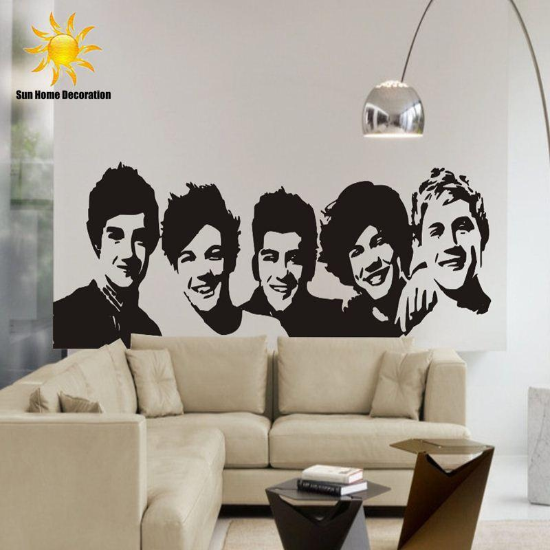 Diy Black Wall Sticker One Direction Poster Girls Bedroom Home - One direction wall decals