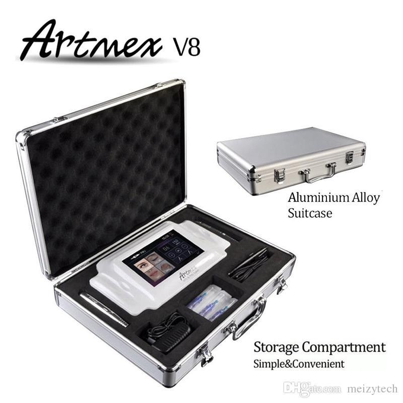 Новейший ArtMex V8 Цифровой постоянный макияж Tattoo Art Art Machine Derma Pen Gies Rotarypen MTS System System Touch