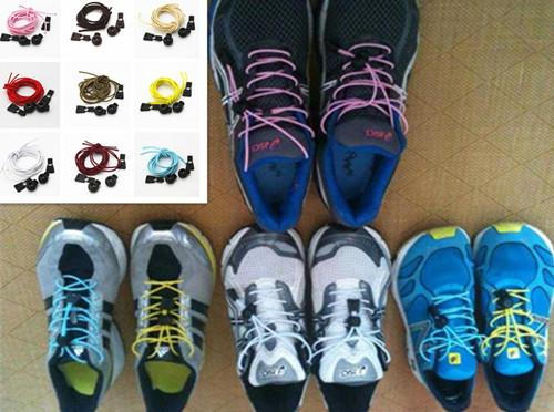 A Pair Of Locking Shoe Laces Elastic Shoelaces Shoestrings Running/Jogging/Triathlon/Sports Fitness