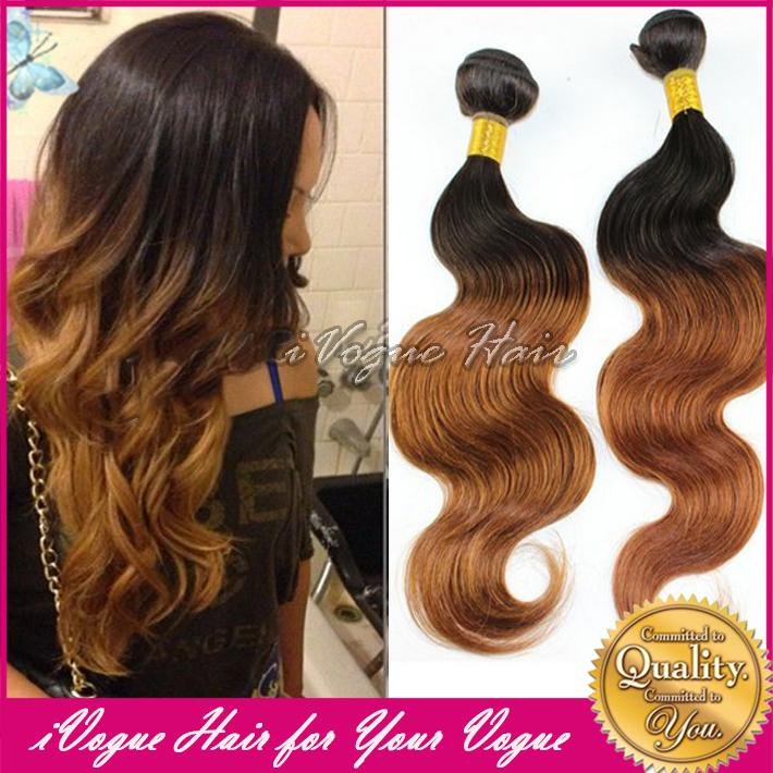 Medium Auburn Ombre Brazilian Body Wave Virgin Human Hair Extension