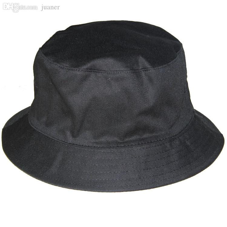 Wholesale-Sun Fashion Black Fishing Cap Bucket Hats Men Hiking Hat ... b7deb34c59b
