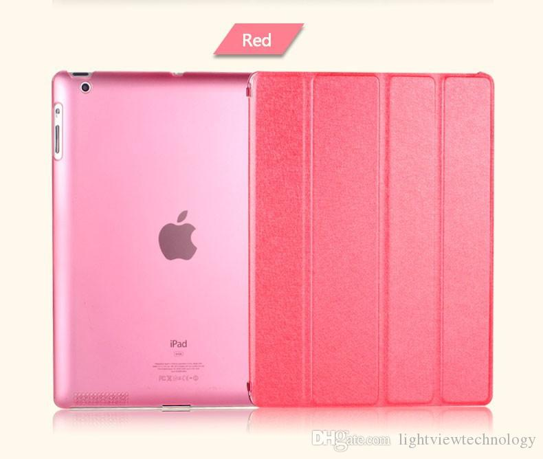 For New iPad Pro 10.5 9.7 2018 Mini Air 2 Foldable Magnetic Smart Cover Matte Cases silk pattern Cover With Auto Sleep Wake