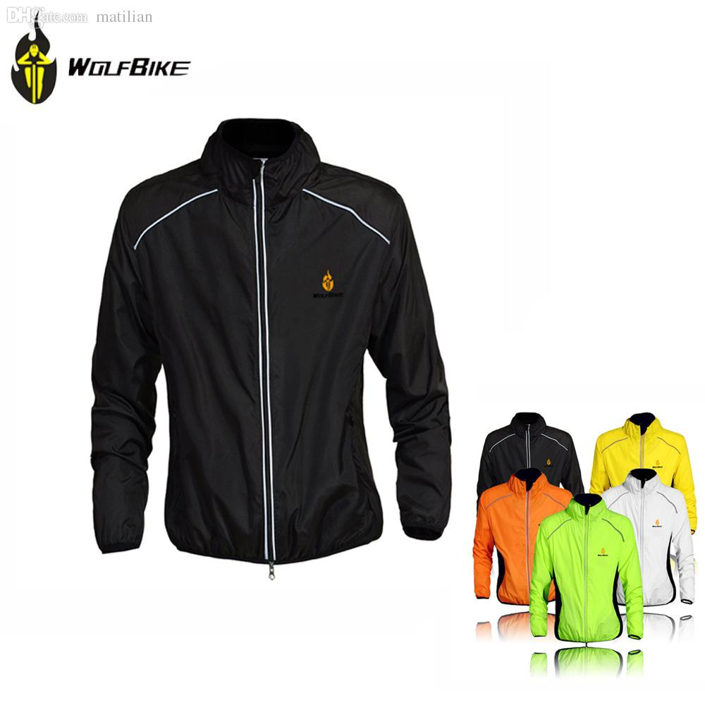 819db7ee9 Fall WOLFBIKE Cycle Jersey Men Riding Breathable Jacket Cycle Clothing  Running Bike Long Sleeve Wind Coat Size Color Option Men In Coat Cool Coats  For Guys ...